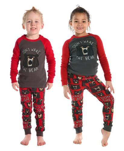 Lazy One Kid's Don't Wake the Bear Pajama Set