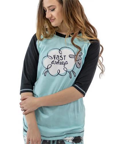 Lazy One Women's Fast Asheep Pajama Shirt
