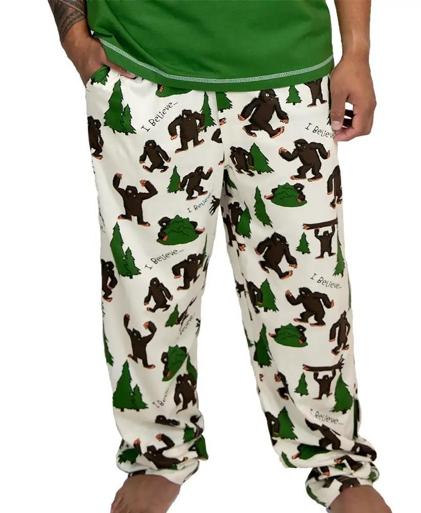 Lazy One Men's I Believe In Bigfoot Pajama Pants