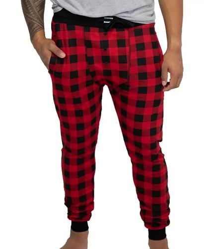 Lazy One Men's Buffalo Plaid Long Johns