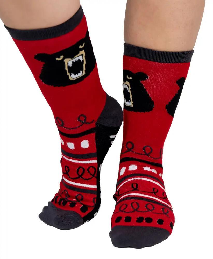 Lazy One Adult Don ' T Wake The Bear Crew Socks