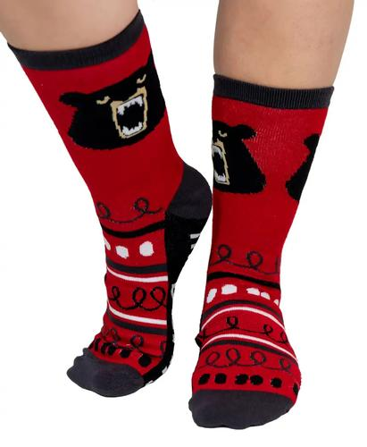 Lazy One Adult Don't Wake the Bear Crew Socks