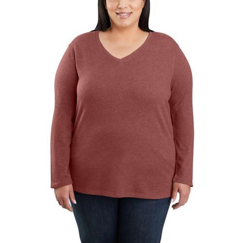 Carhartt Women's Relaxed Fit Midweight Long Sleeve V-Neck T-Shirt