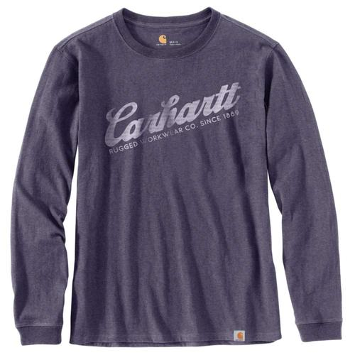 Carhartt Women's Original Fit Heavyweight Long Sleeve Carhartt Script Graphic T