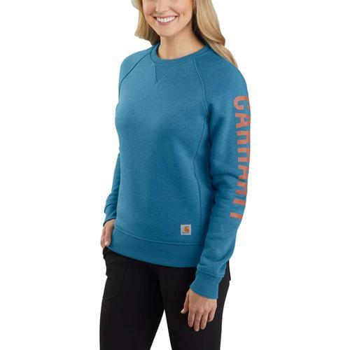 Carhartt Women's Relaxed Fit Midweight Crewneck Carhartt Graphic Sweatshirt