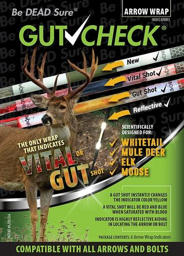 Gut Check White Tail Arrow Wrap Shot Indicator