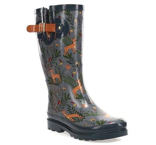 Western Chief Women's Oh Deer Tall Faux Fur Lined Rain Boot