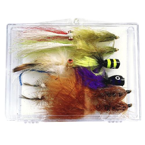 The Creative Angler Bass and Panfish 12 Fly Selection Box Set