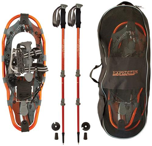 Expedition Snowshoes Truger Trail II 21 Snowshoe Kit with Poles and Bag