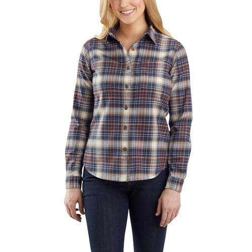Carhartt Women's Rugged Flex Relaxed Fit Flannel Plaid Shirt