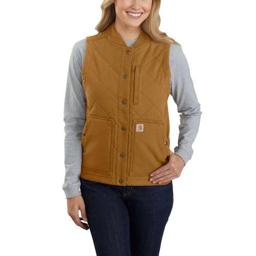 Carhartt Women's Rugged Flex Canvas Insulated Rib Collar Vest