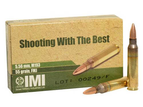IMI Ammo 5.56x45mm NATO 55 Grain Full Metal Jacket Box of 20