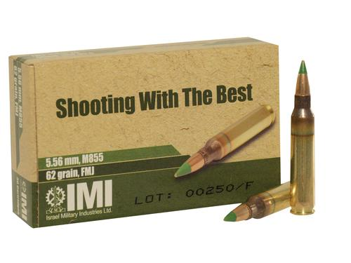 IMI Ammo 5.56x45mm NATO 62 Grain Penetrator Full Metal Jacket Box of 20