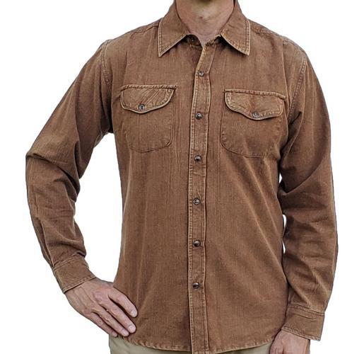 Flyshacker Men's Shenandoah Solid Grindle Long Sleeve Shirt