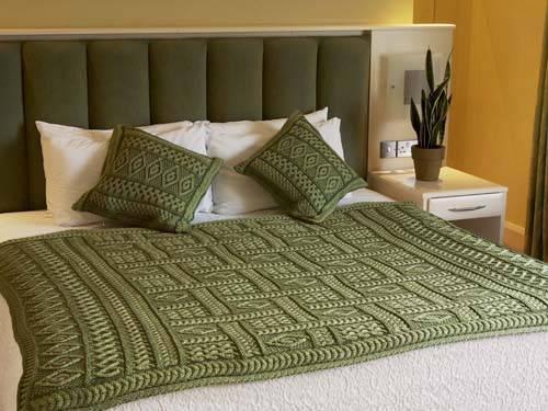 Aran Crafts Plaited Throw Blanket