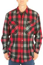 Five Brother Workwear Men's 9oz Snap Front Flannel Shirt 2001/REDGREY