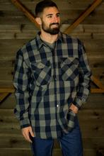 Five Brother Workwear Men's 9oz Snap Front Flannel Shirt 2005/GREY/BLACK