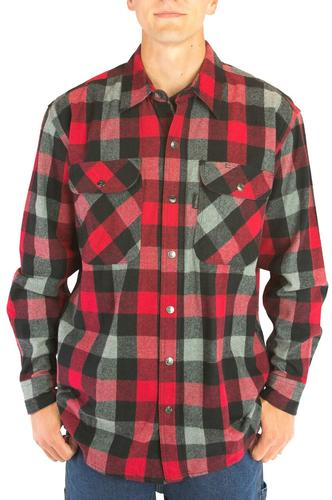 Five Brother Workwear Men's 9oz Snap Front Flannel Shirt