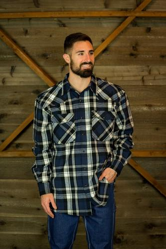 Five Brother Workwear Men's Original 9oz Western Brawny Flannel Shirt