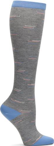 Comfortiva Heather Grey Dash Compression Socks
