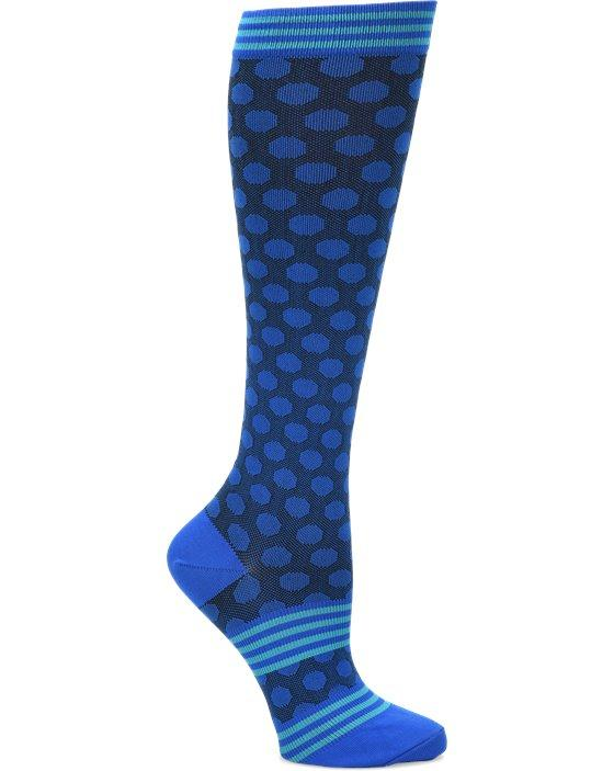 Comfortiva Blue Sporty Dot Compression Socks