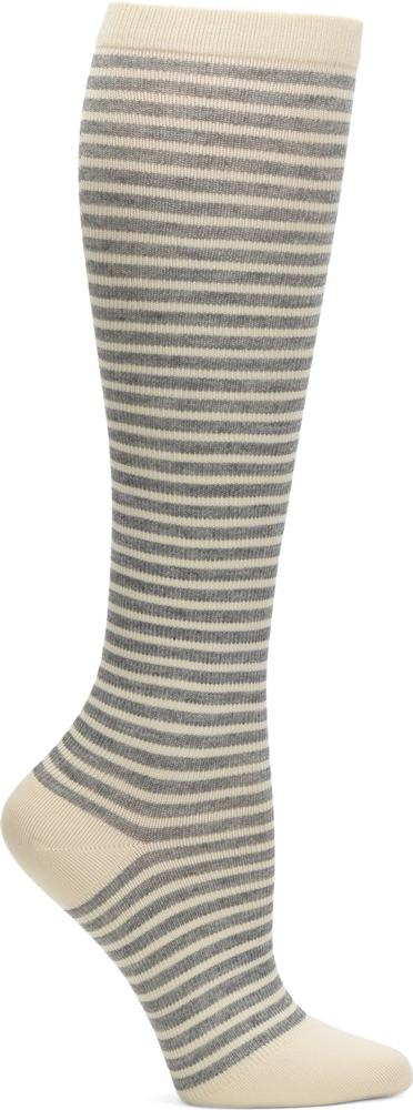 Comfortiva Heather Pinstripe Compression Socks