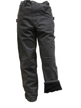 Five Brother Workwear Men's Fleece Lined Twill Dungarees CHARCOAL
