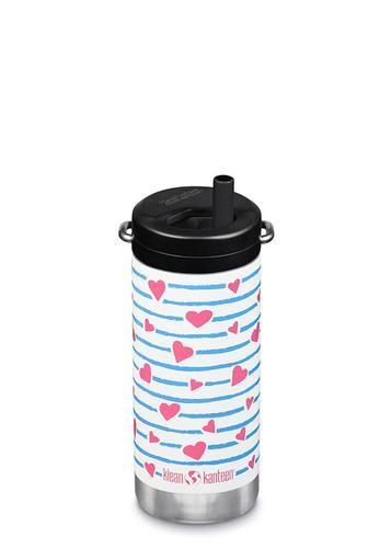Klean Kanteen TKWide 12 oz Insulated Bottle with Twist Cap Heart Stripes