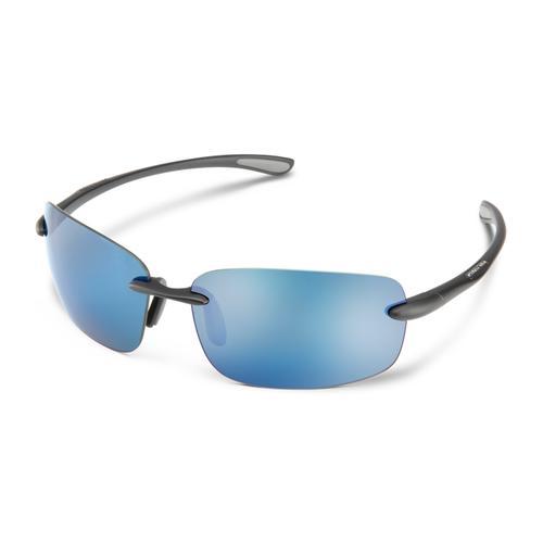 Suncloud Optics Topline Matte Black Polarized Blue Mirror Sunglasses