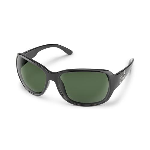 Suncloud Optics Limelight Sunglasses Black with Polarized Grey Lenses