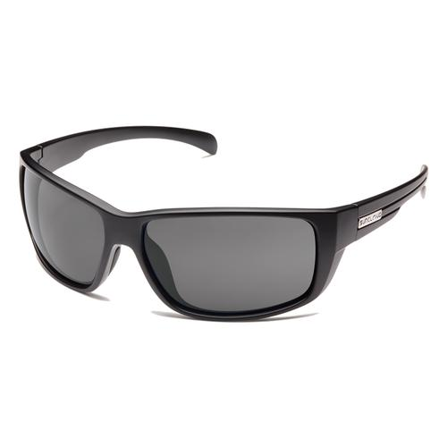 Suncloud Optics Milestone Sunglasses Matte Black with Polarized Grey Lenses