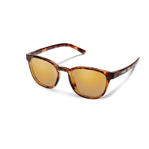 Suncloud Optics Montecito Sunglasses Tortoise with Polarized Sienna Mirror Lenses
