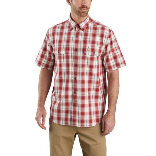 Carhartt Men's Original Fit Button Front Plaid Short Sleeve Shirt