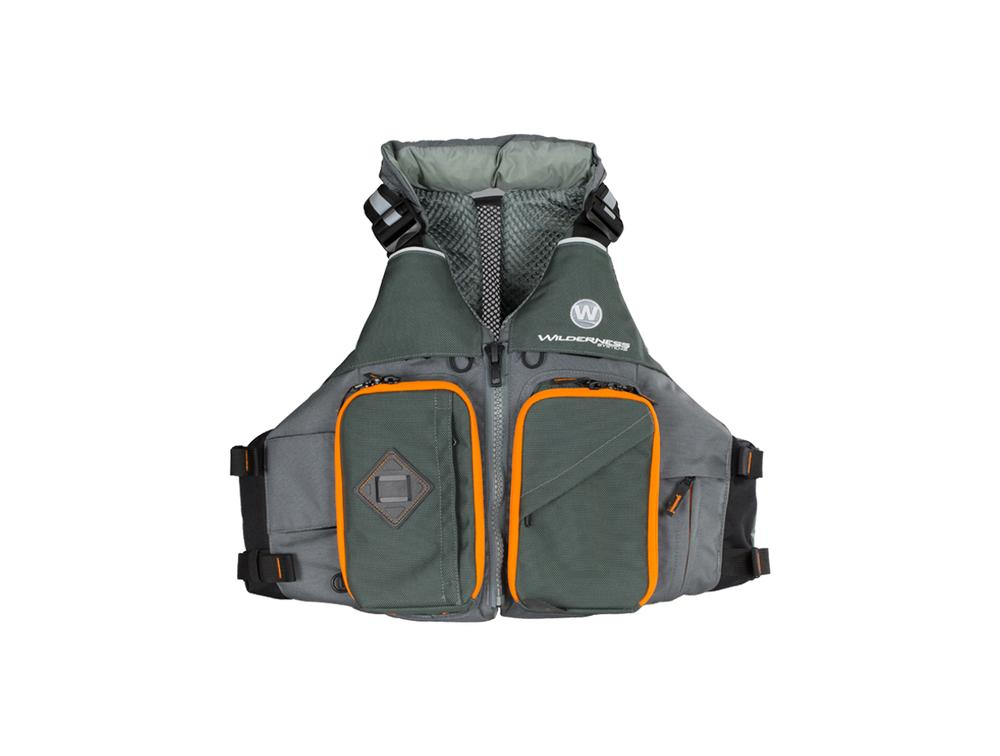 Wilderness Systems Fishing Anglers PFD Life Vest GREY/ORG