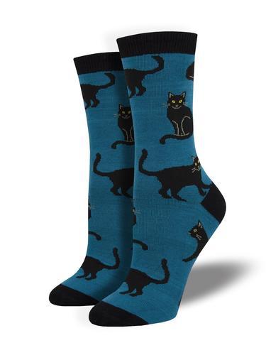 Socksmith Women's Black Cat Bamboo Socks