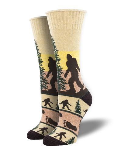 Socksmith He Went That Way Recycled Cotton Socks Hemp Tan