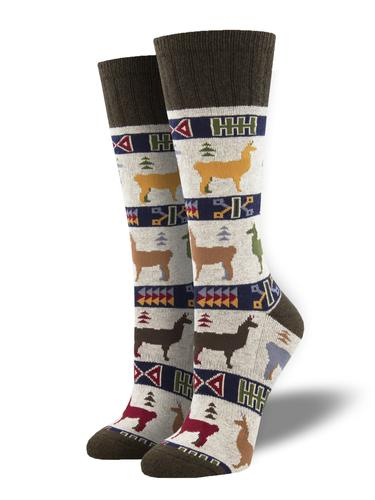 Socksmith Llama Out of Here Recycled Wool Socks