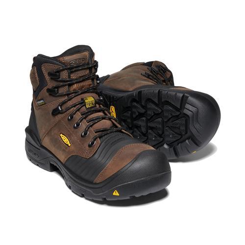 Keen Men's Portland 6in Waterproof Carbon Safety Toe Boot in Dark Earth