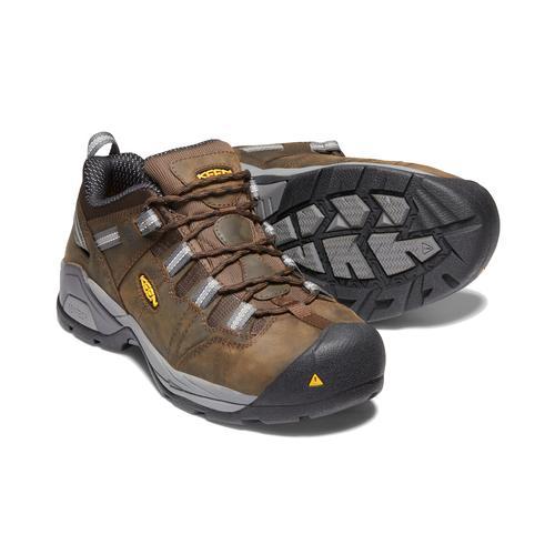 Keen Men's Detroit XT ESD Steel Toe Shoe in Cascade Brown and Gargoyle
