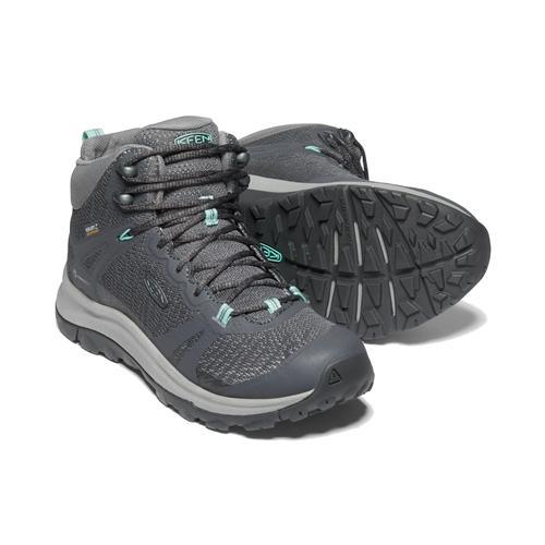 Keen Women's Terradora 2 Mid Waterproof Hiking Boot in Magnet and Ocean