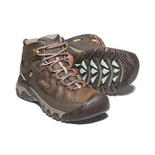 Keen Women's Targhee 3 Waterproof Mid Boot in Bungee Cord and Redwood