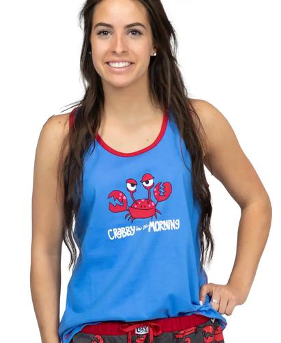 Lazy One Women's Crabby in the Morning Pajama Tank Top