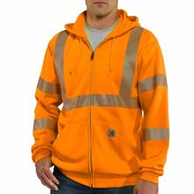 Carhartt Men's High-Visibility Zip-Front Class 3 Thermal Sweatshirt BRIGHT_ORANGE