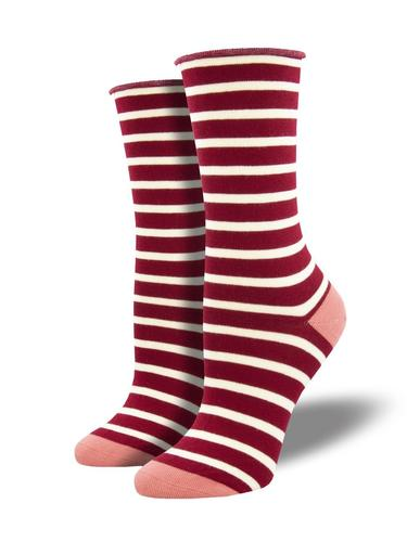 Socksmith Women's Sailor Stripe Roll Top Bamboo Socks