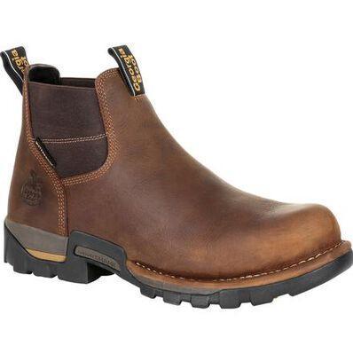 Georgia Boot Company Men's Eagle One Steel Toe Waterproof Chelsea Boot