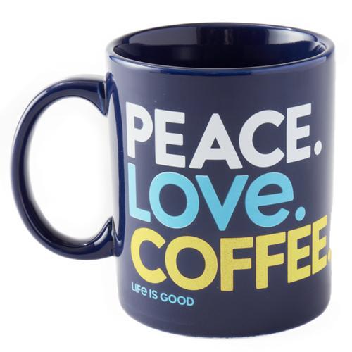 Life Is Good Peace Love Coffee Jake's Mug