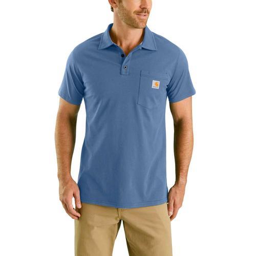 Carhartt Men's Force Cotton Delmont Pocket Polo Shirt