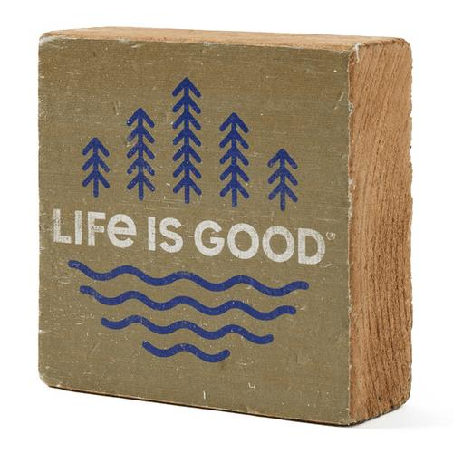 Life Is Good Minimal Scenic Small Wooden Sign