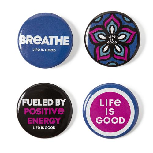 Life Is Good Wellness Positive Pins 4 Pack