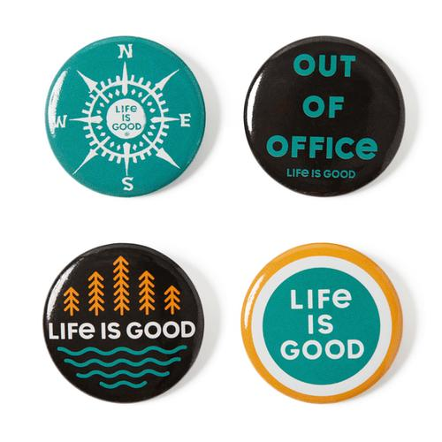 Life Is Good Outdoor Positive Pins